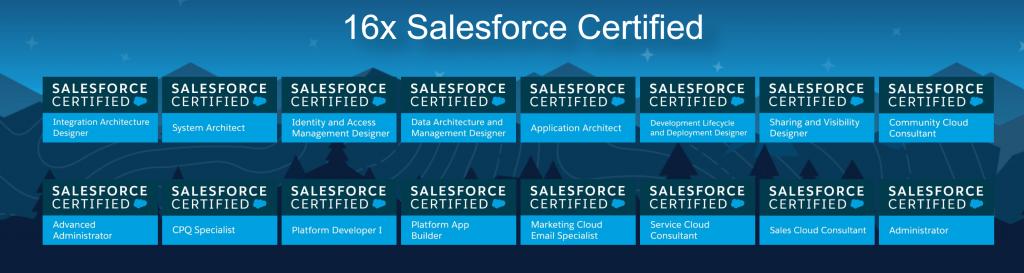16x Salesforce Certified